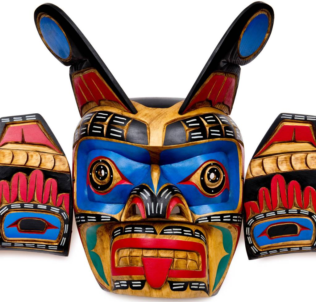 Sisiutl mask carved by Jimmy Joseph (Kwakwaka'wakw)