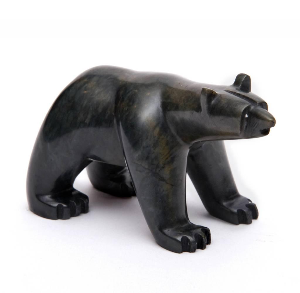 Medium/Small Soapstone Bear by Howard Moose (Cree).