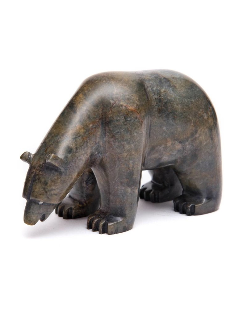 Medium/Small Soapstone Bear by Howard Moose (Cree).
