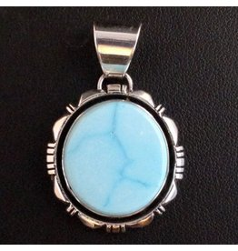 Natural Blue Ridge Pendant by Randy and Etta Endito (Navajo).