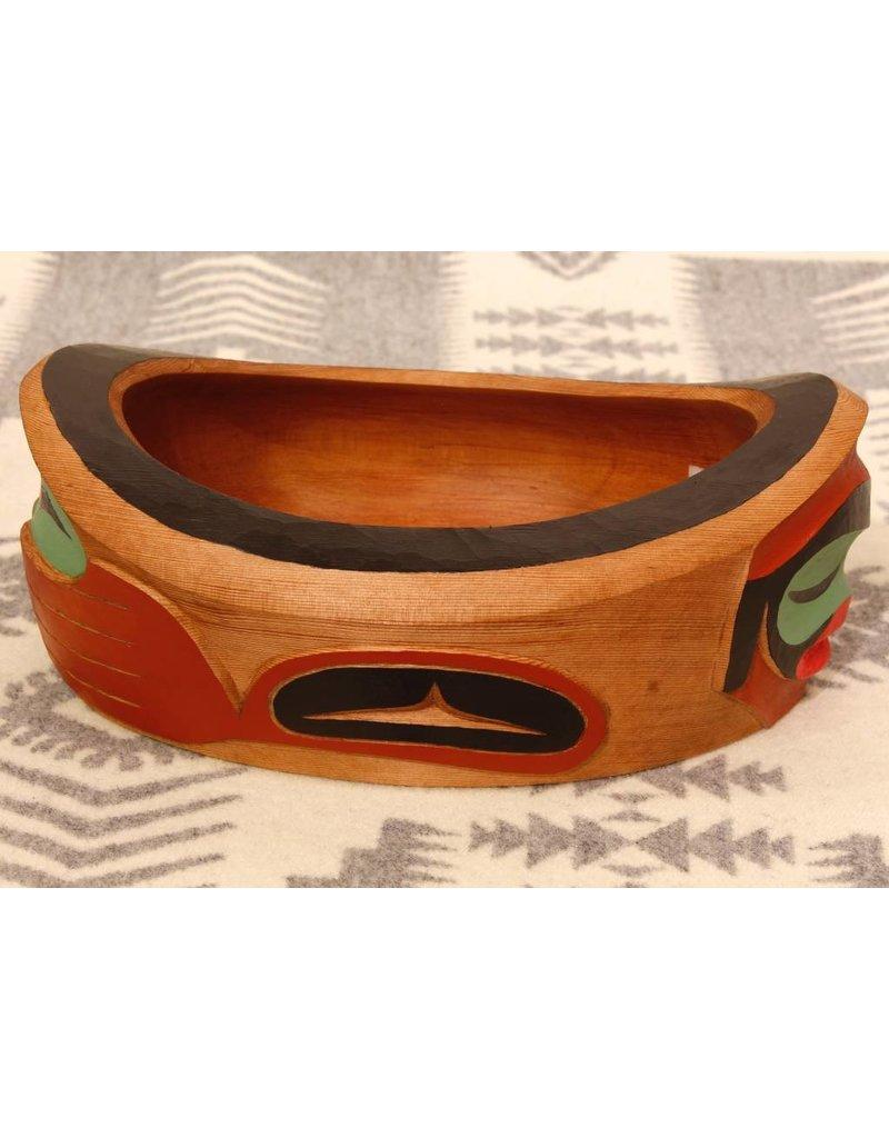 Resting Human Bowl by Leonard Wells (Semiahmoo, Coast Salish).