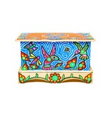 Hummingbird Box Chest Painted by Gyauustees (Nuchahnulth)..