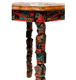 Sun Table with Totem Pole Legs by Jimmy Joseph (Kwagiulth).