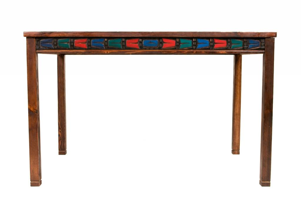 Table with Thunderbird Carved on Top by Jimmy Joseph (Kwakiulth).