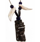 Argillite Bear Necklace by Lionel Samuels (Haida).