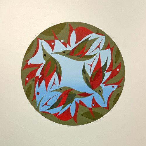 Tsaw 'Pacific Spring' - Print by Susan Point (Coast Salish).