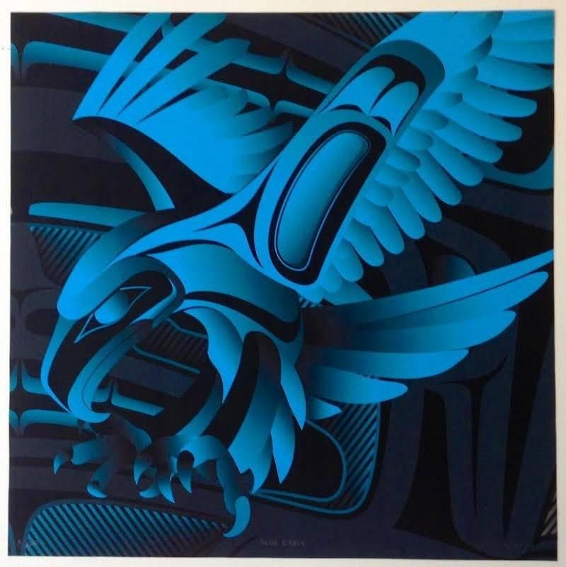 'Blue Eagle' print by Alano Edzerza (Tahltan).