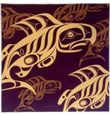 'Burgundy Salmon' print by Alano Edzerza (Tahltan).