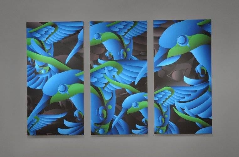'Charmed' Triptych Prints by Alano Edzerza (Tahltan).