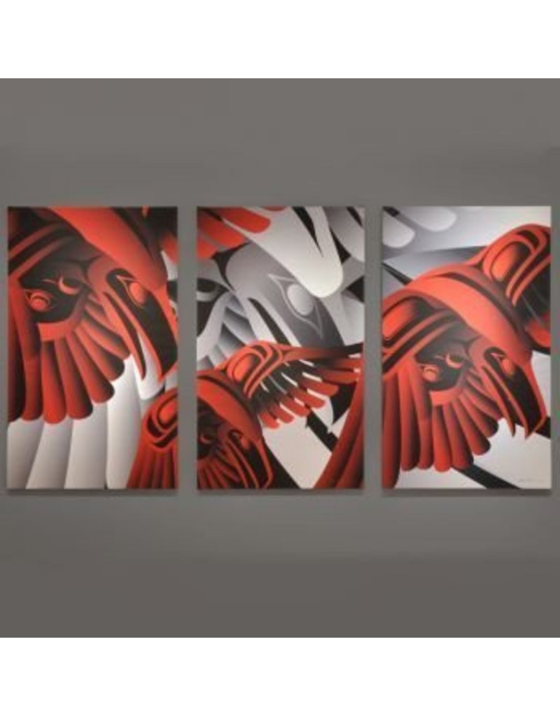 'Gift of the Raven' triptych prints by Alano Edzerza (Tahltan).