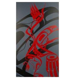 'Raven Dancer' print by Alano Edzerza (Tahltan).