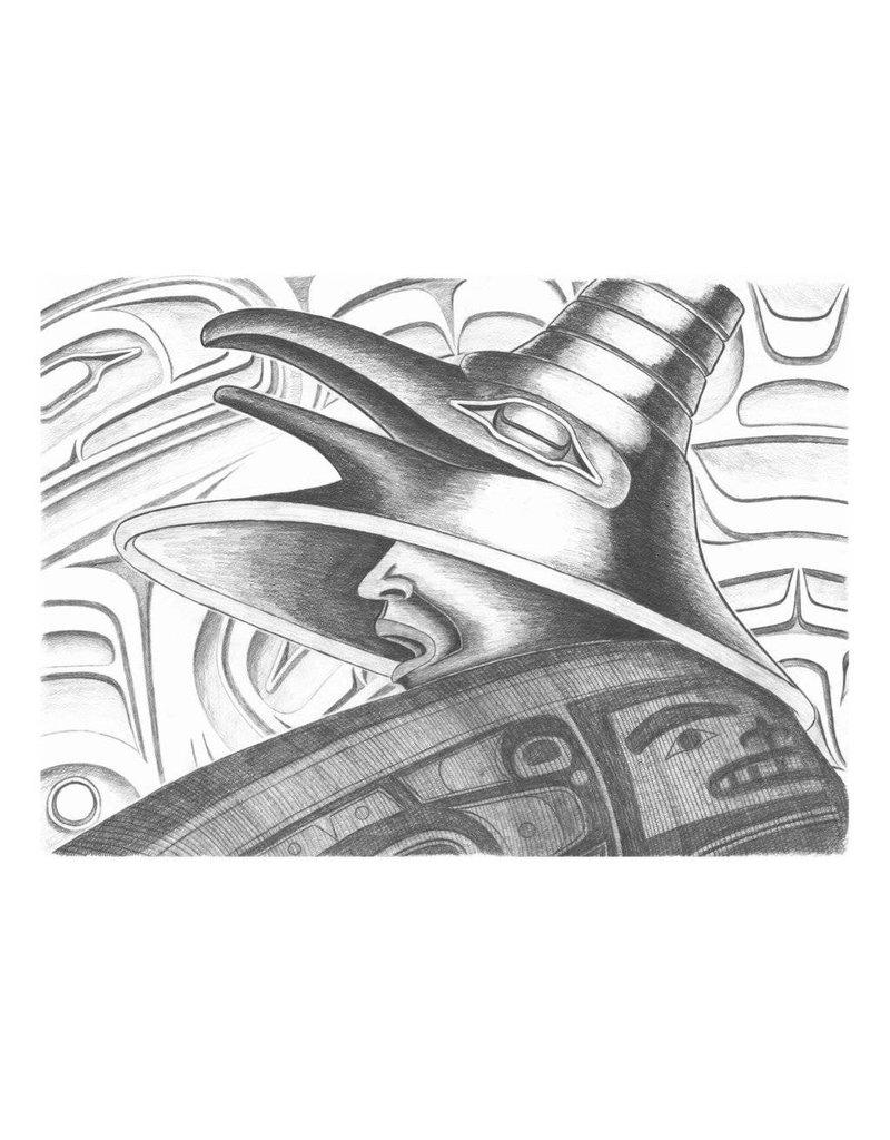 'Raven Warrior' print by Alano Edzeerza (Tahltan).