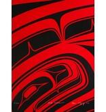 'Red Formline' print by Alano Edzerza (Tahltan).