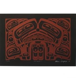 'Sea Monster' print by Alan Edzerza (Tahltan).