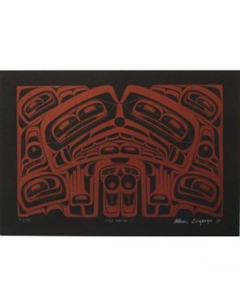 'Sea Monster' print by Alan Edzerza (Tahltan).