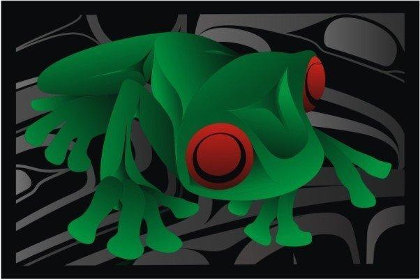 'Skookum's Dream 2' print by Alano Edzerza (Tahltan).