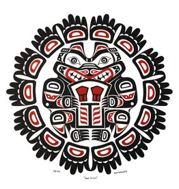 Bear Shield Print by Wade Baker (Squamish/Coast Salish).