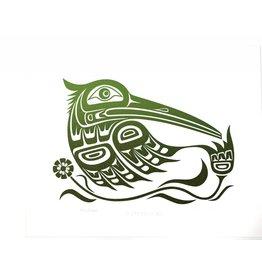 Print Emerald Hummingbird by Wade Baker