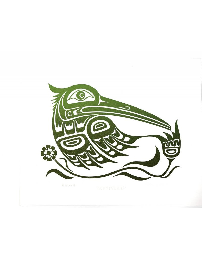 Print Emerald Hummingbird by Wade Baker (Squamish/Coast Salish).