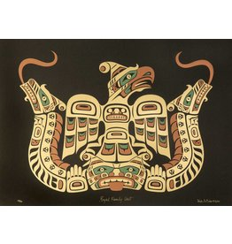 'Royal Family Crest' print by Wade Baker (Squamish/Coast Salish/Kwakwakawakw).