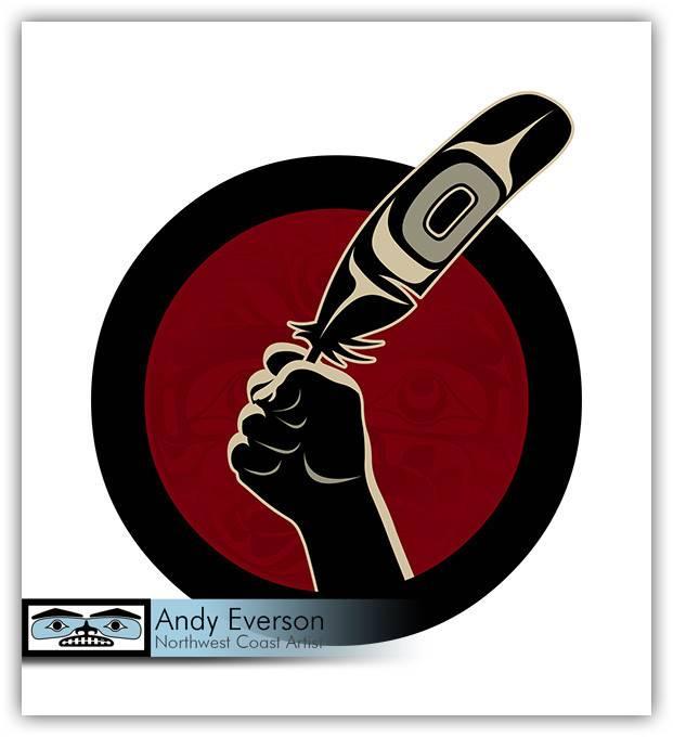 'Idle No More' silkscreen print by Andy Everson (Komoks).