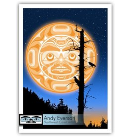 """Moonlit Monologue"" print by Andy Everson (Komox)."