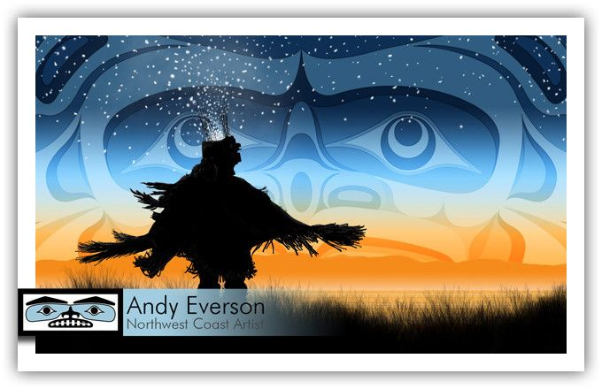 'Eagle Down Dancer' by Andy Everson (Komox).