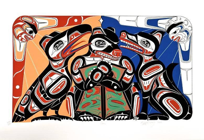 'Clans' Print by Richard Shorty (Northern Tutchone).