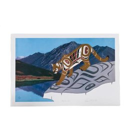 'Mountain Lion' Print by Richard Shorty (Northern Tutchone).