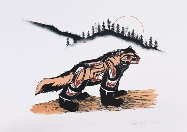 'Wolverine' Print by Richard Shorty (Northern Tutchone).