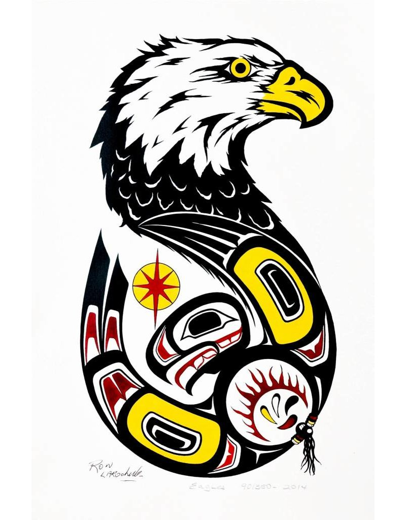 'Eagles' framed print by Ron LaRochelle (Haida).