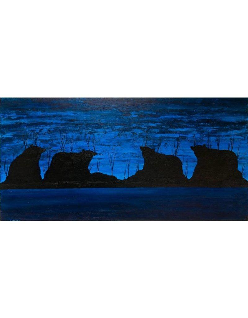 Blue Bears by Kevin Cardinal (Cree).