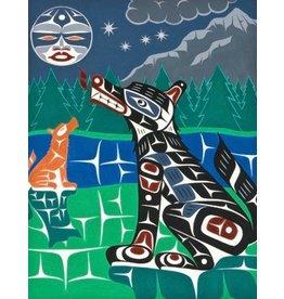 'Coastal Wolves' Painting.