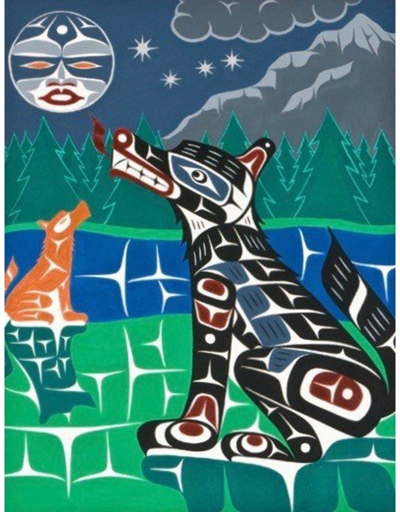 'Coastal Woves' Painting by Gord Hill (Kwakwakawakw).