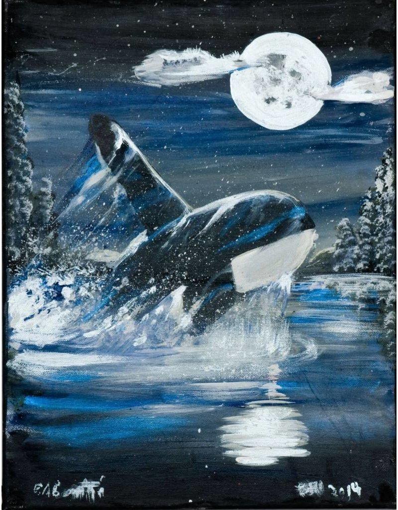 'Killer Whale' Painting by Edgar Rossetti (Carrier).