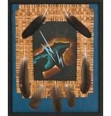 Framed Original Painting by Brian Grandbois (Chipewyan).