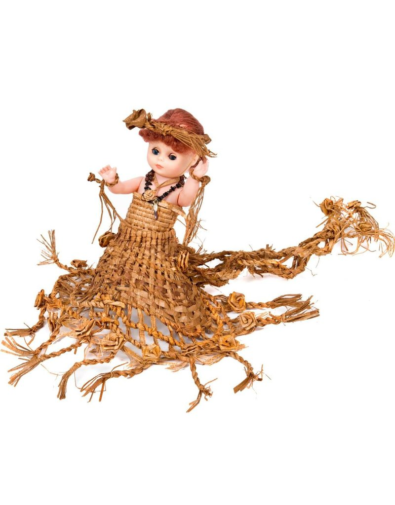 Doll with Cedar Bark Regalia by Noreen Bell (Homalko, Kwakwakawakw).