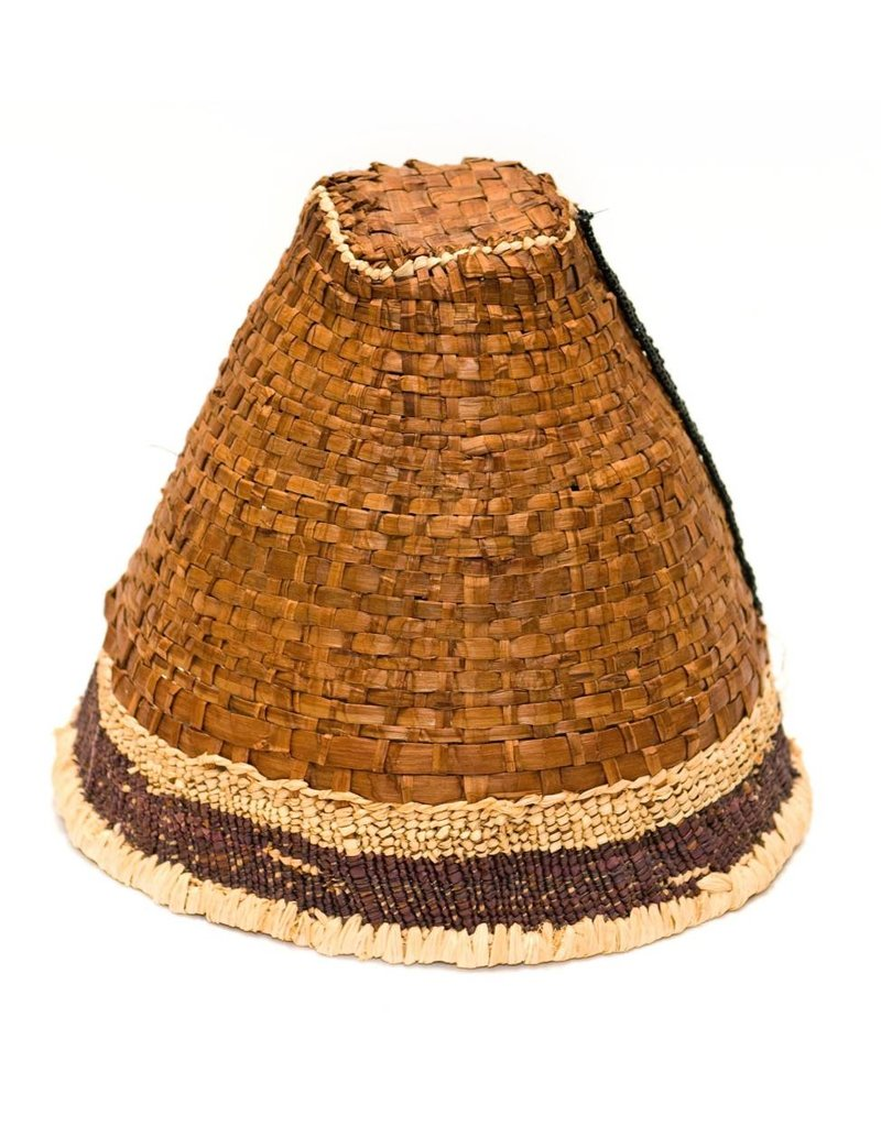 Cedar Bark Hat with Cedar Root Trim