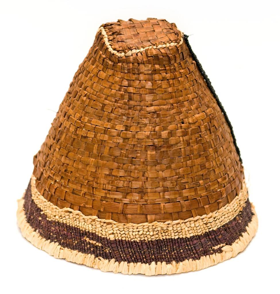 Cedar Bark Hat with Cedar Root Trim