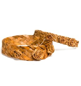 Cedar Bark Headband with Roses by Francis Jackson (Gitxsan).