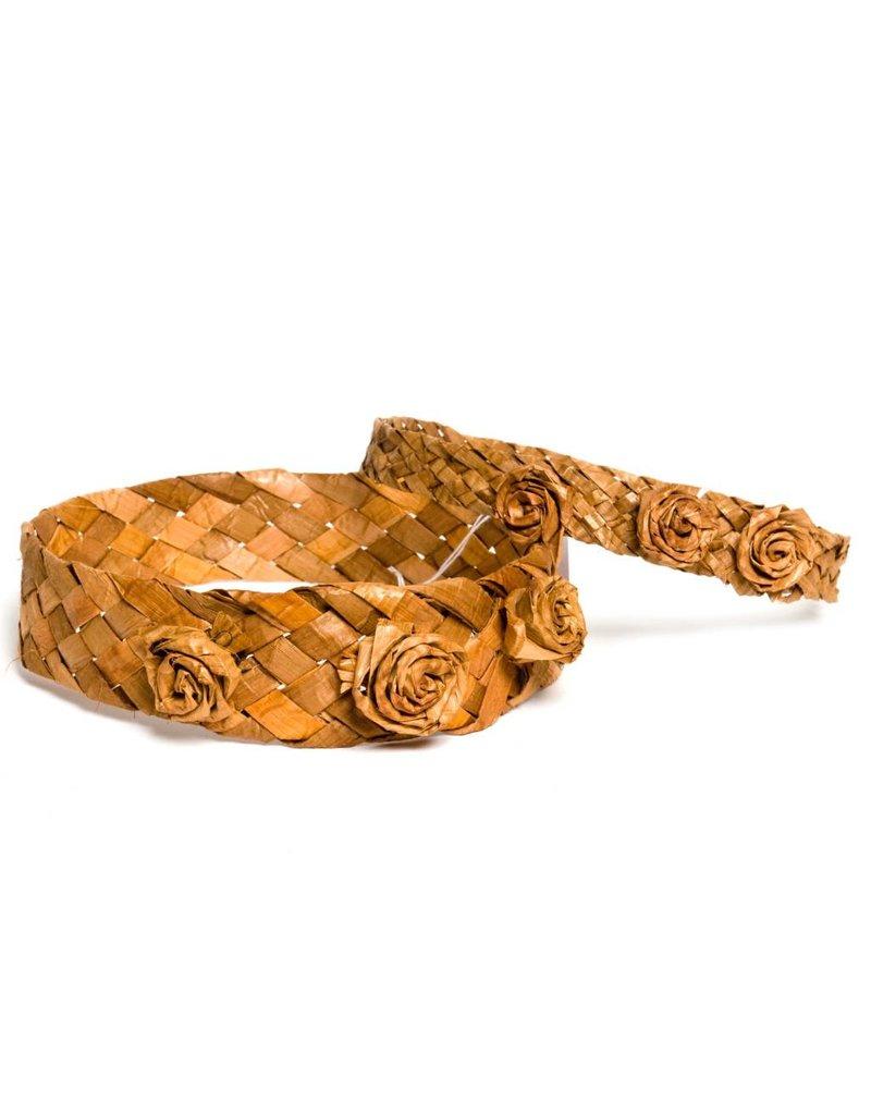 Cedar Bark Headband with Roses by Francis Jackson (Gitxsan).