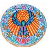 Hummingbird Hand Drum by Gyauustees (Nuu-chah-nulth).
