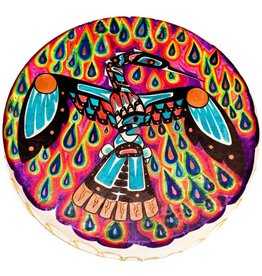 Waterbird Hand Drum painted by Gyauustees