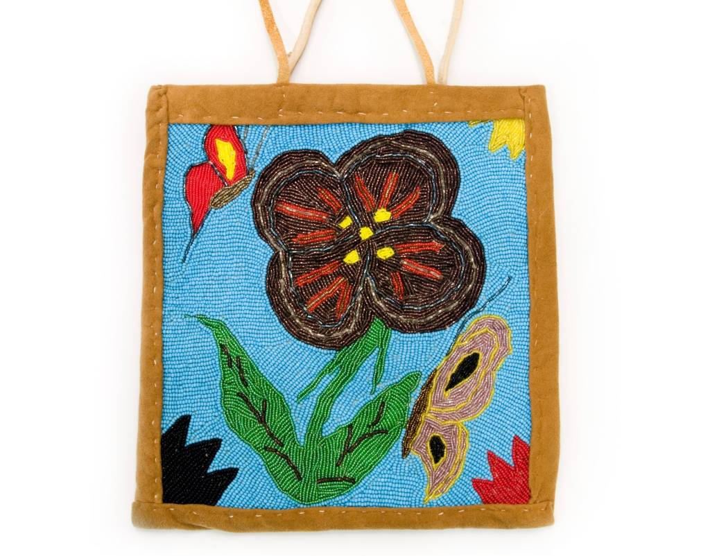 Flowers Beaded flat Bag