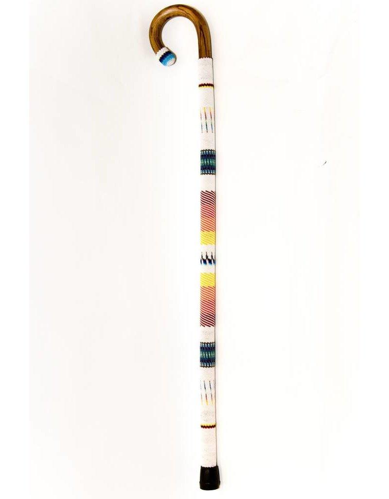 Beaded Walking Stick by Percy Casper (Secwepemc).