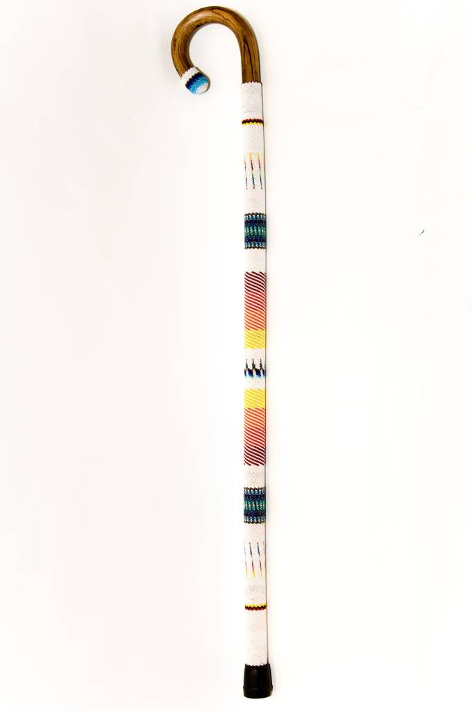 Beaded Walking Stick Cane by Percy Casper (Secwepemc).