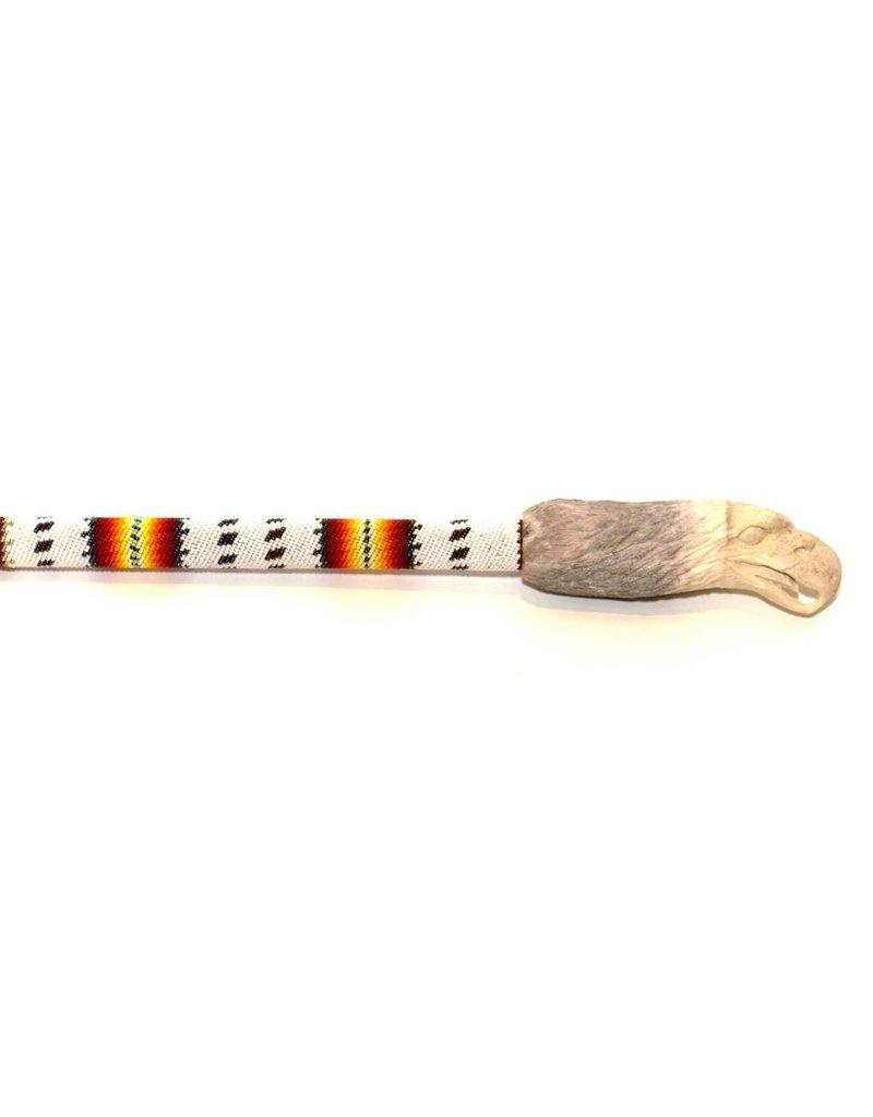 Beaded Dancing Stick by Percy Casper (Secwepemc).