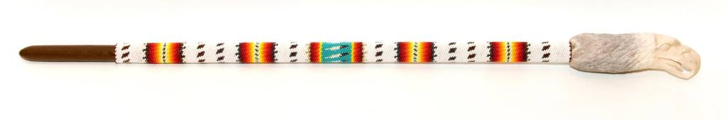 Beaded Dancing Stick by Percy Casper (Secwepemc).
