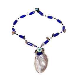 Shell and Trade Bead Necklace by Donna Hanson (Homalco).