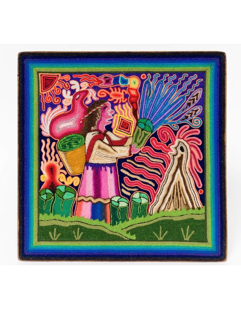 Yarn Painting by Cecilio Carrillo Bonilla (Huichol).